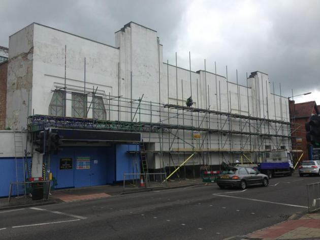 Scaffolding up at The Odyssey St.Albans 2