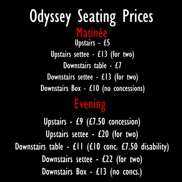 seating prices new
