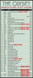 march listings sold out 26 3PM